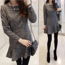 Autumn and winter skirt flounced skirt dress