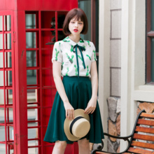 Linjou2016 retro Joker minimalist high waisted slim slimming in a shed and put on skirts long bi-fold wallets