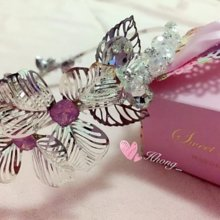 Hhong silver Crystal dating dinner party used the headband hair accessories