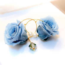 Blue Verapaz. wedding anniversary blue roses preserved Blizzard flower asymmetric something blue Aurora
