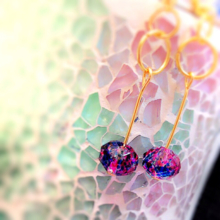 Summer earrings ♡ yo Tanabata yukata marble watercolor texture paint