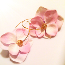 Flower hoop earrings.