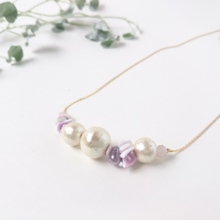 Purple shell * necklace