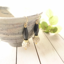 • Vintage • black Czech (earrings)