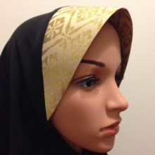 Kyoto Nishijin of hijab (wear type) Large Gold
