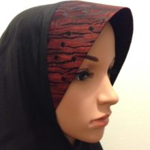 【summer sale 40%OFF】 Only One, cool feeling vintage hijab (wear type) old cloth black x red