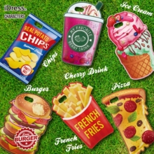 IPhone 7 Case American Deli Die Cut Back Cover Chips Drink Ice Cream Burger French Fry Pizza Chocolate Egg-fried Toast Popcorn