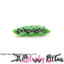 The Blushy Kitten Pea Pod Felt Brooch {CUSTOM ORDER}