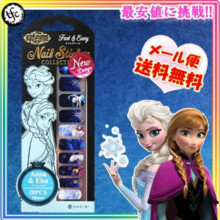 Anna and the snow Queen Disney Nail seal wrapping nail art / ★ Popular ★