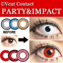 Dr. Karakon Contact Film Party & Impact 1 Month ColorCon Cosplay Costume Halloween Zombies Vampire Event 2 Boxes (Both Eyes) Set