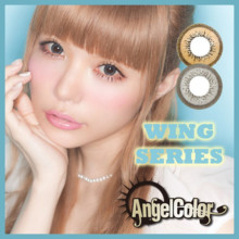 Colorless degree None Angel Color Monthly Wing Series 1 Month 2 pieces Gray Brown 14.2 mm