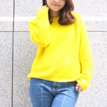 [Made in Japan damska Crew Neck sweter