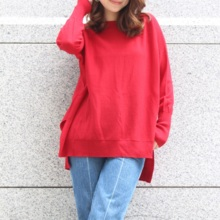 [Made in Japan] Big silhouette boat neck sweater