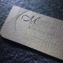thin wooden business card