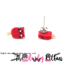 The Blushy Kitten Popsicle Hybrid Felt Stainless Steel Stud Earrings [READY TO SHIP]