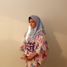 【summer sale】Kawaii gentle blue hijab with japanese lace