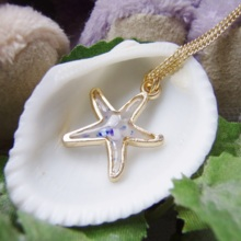 Indigo starfish necklace (free shipping)
