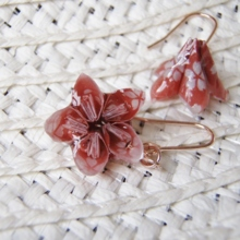 Sakura pierced earrings (free shipping)