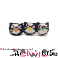 The Blushy Kitten Felt Maki Kitten Brooch {READY TO SHIP}