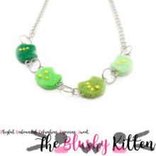The Blushy Kitten Braille Felt Statement Necklace {CUSTOM ORDER}