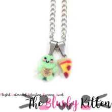 The Blushy Kitten Tortoise Changeable Felt Pendant Necklace {READY TO SHIP}