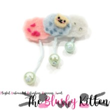 The Blushy Kitten Sheep Cloud Felt Brooch {READY TO SHIP}