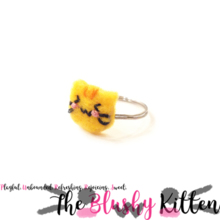 Den Blushy Kitten Animal Head Ring {CUSTOM ORDER}
