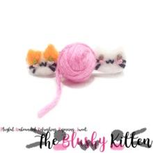 The Blushy Kitten Pet Portrait Brooch {CUSTOM ORDER}