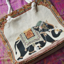Elephant shopping bag made in Sri Lanka (free shipping)