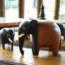 Sri Lankan ebony elephant L (free shipping)