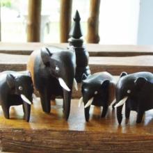 Sri Lankan ebony elephant S (free shipping)