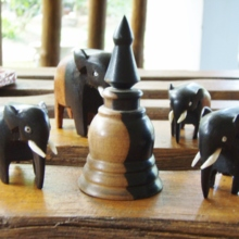Sri Lanka made ebony stupa (pagoda) (free shipping)