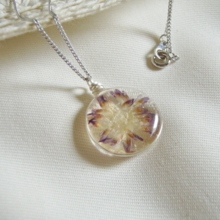 Yatsugatake Flower Resin · Wire Necklace (Free Shipping)