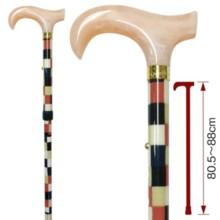 【Japanese high-class stick】 Colorful lattice pattern aluminum stick LA-8 (pink)