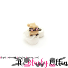 The Blushy Kitten Felt Toilet Roll Thief Ear cuff Stud Earring set {READY TO SHIP}