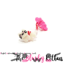 The Blushy Kitten Felt Love Suspension Ear Cuff {READY TO SHIP}