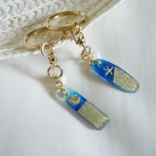 Golden Sand Mother of Pearl Key Ring (free shipping)