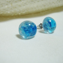 Blue Bubbles Ball Earrings (free shipping)