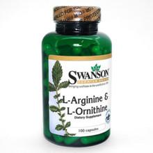 アミノ酸 (Swanson) L-アルギニン&L-オルニチン