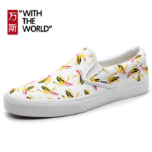 WANSI new tide brand crown with the same banana lace campus skateboard lazy shoes casual couple shoes WS133