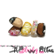 Biscotti Brooch - Felt Miniature Jewelries Limited Edition by The Blushy Kitten {READY TO SHIP}
