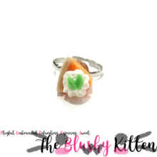 Pumpkin Pie Adjustable Ring - Felt Miniature Jewelries Limited Edition by The Blushy Kitten {READY TO SHIP}