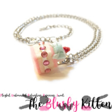 Strawberry Shortcake Miniature Necklace - Felt Miniature Jewellery Limited Edition by The Blushy Kitten {READY TO SHIP}