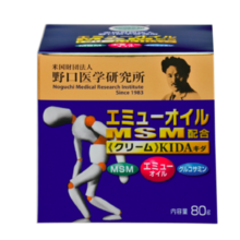 Noguchi Medical Research JAPAN Emu minyak MSM dicampur krim KIDA Kida 80g