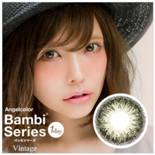 Angel Color Bambi Series Vintage  olive color One Day 30 sheets Color Contact Lens