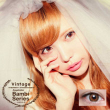 Angelcolor Bambi series Vintage brown 1 month No degree 2 sheets Color contact lens