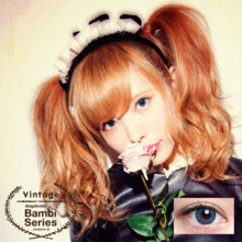 Angelcolor Bambi series Vintage blue 1 month No degree 2 sheets Color contact lens