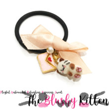 Kitten, Love Letter, Pearl & Ribbon Hair Band - Felt Kawaii Cute Miniature Accessories Limited Edition by The Blushy Kitten {READY TO SHIP}