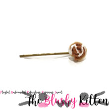 Cinnamon Roll Cinnamon Bun Sugar Icing Hair Pin - Felt Kawaii Cute Miniature Accessories Limited Edition by The Blushy Kitten {READY TO SHIP}