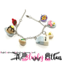 Breakfast Food Charm Bracelet - Felt Kawaii Cute Miniature Accessories Limited Edition by The Blushy Kitten {READY TO SHIP}